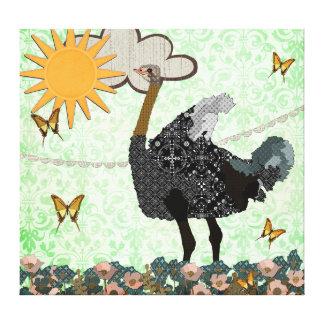 Você é minhas canvas de arte da avestruz da luz do impressão de canvas envolvidas