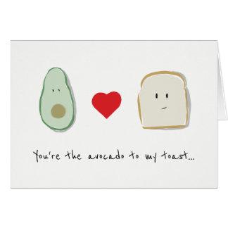Você é o abacate a meu cartão de aniversário do