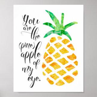 Você é o abacaxi de meu poster do olho