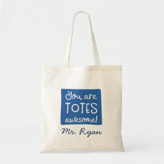 Você é o bolsa azul personalizado impressionante