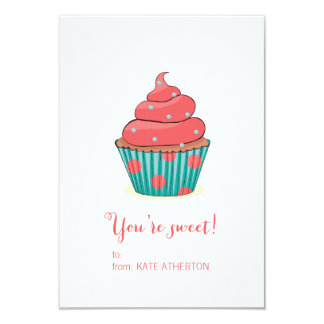 Você é o cartão dos namorados doces do cupcake convite 8.89 x 12.7cm