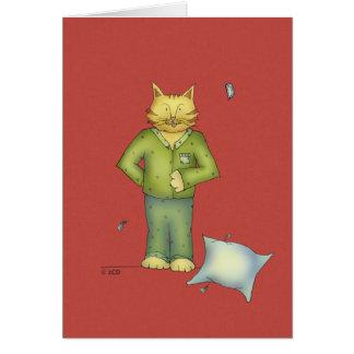 Você é o cartão dos pijamas do gato