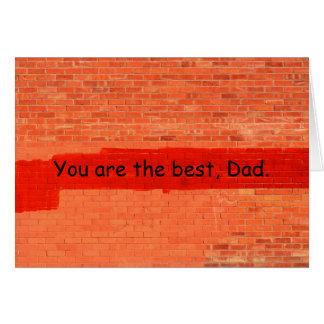 """""""Você é o melhor, dia dos pais do pai"""" Cartão Comemorativo"""