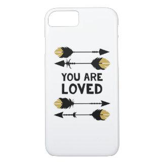 Você é - preto e ouro - capa de telefone amada