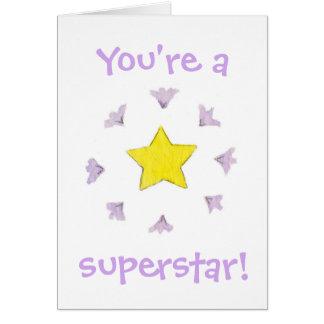 Você é um cartão de aniversário da estrela mundial