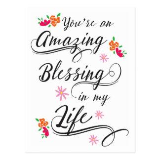Você é uma bênção surpreendente em meu cartão da