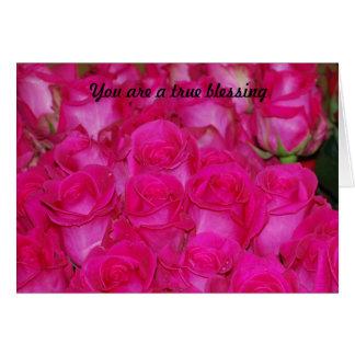 Você é uma bênção verdadeira cartão comemorativo