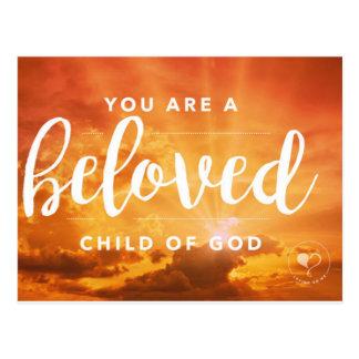 Você é uma criança amado do cartão do deus