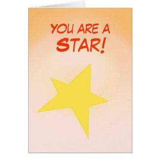 Você é uma estrela, parabéns que o cartão