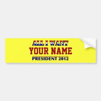 Você escolhe o presidente - nome de etiqueta de 20 adesivo