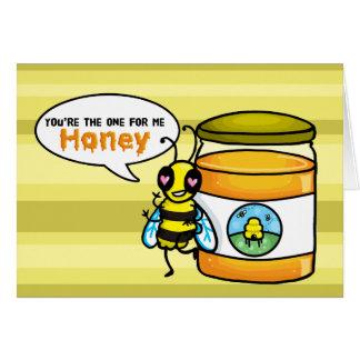 Você esse para mim cartão da abelha do mel