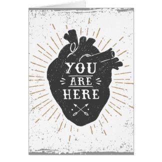 Você está aqui cartão