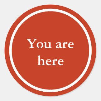 """""""Você está aqui"""" etiqueta inspirada"""