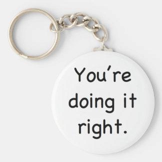 Você está fazendo-o direito chaveiro