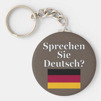 Você fala o alemão? no alemão. Bandeira Chaveiro
