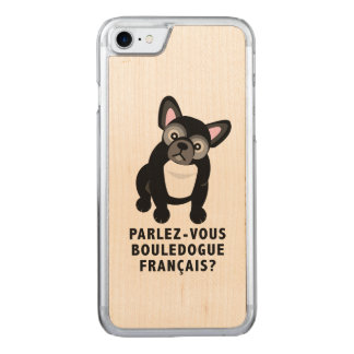 Você fala o buldogue francês bonito capa iPhone 7 carved