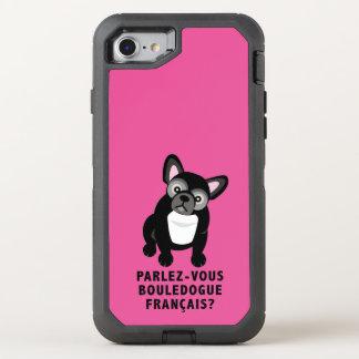 Você fala o buldogue francês bonito capa para iPhone 7 OtterBox defender