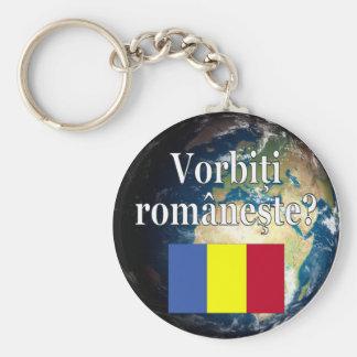 Você fala o Romanian? no Romanian. Bandeira & Chaveiro
