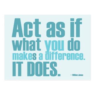 Você faz a uma diferença o cartão inspirador