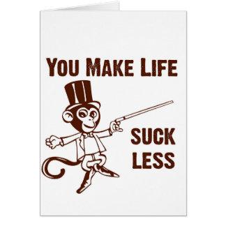 Você faz a vida sugar menos cartão