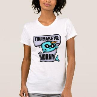 Você faz-me a camisa Horny de Narwhal