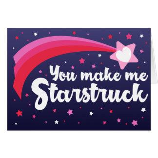 Você faz-me o cartão da estrela dos namorados de