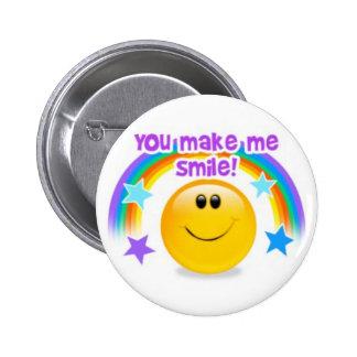 você faz-me sorrir! bóton redondo 5.08cm