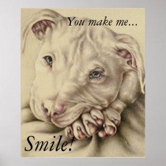 Você faz-me sorrir! - Poster do pitbull