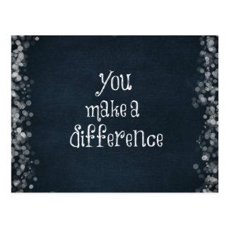 Você faz umas citações da diferença cartão postal