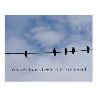 Você foi sempre cartão um pouco de diferente