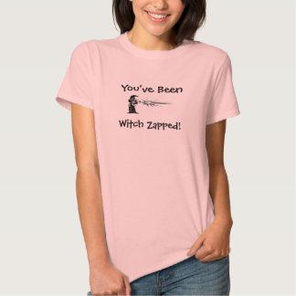 Você foi t-shirt Zapped bruxa