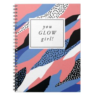 Você incandesce caderno inspirador da menina