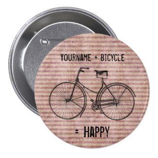 Você mais a bicicleta iguala o rosa antigo feliz d pins