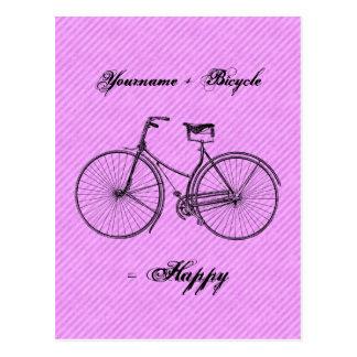 Você mais o rosa antigo feliz da lavanda do igual  cartao postal