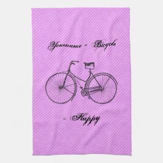 Você mais o rosa antigo feliz da lavanda do igual  toalha de mão