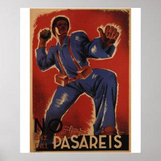 Você não passará (1937) posters do _Propaganda Pôster