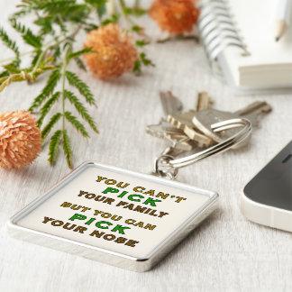 Você não pode escolher sua família engraçada chaveiro