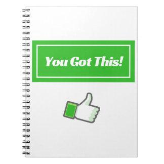 Você obteve este! - Caderno