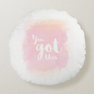 Você obteve este travesseiro cor-de-rosa da almofada redonda