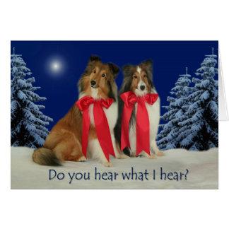 Você ouve-se? Cartão de Natal de Sheltie