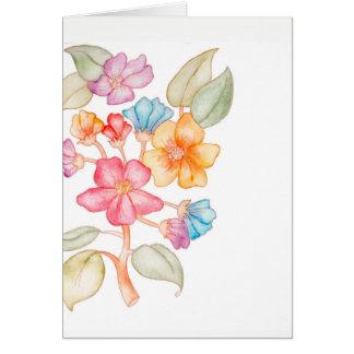 Você pode contar em mim o cartão floral
