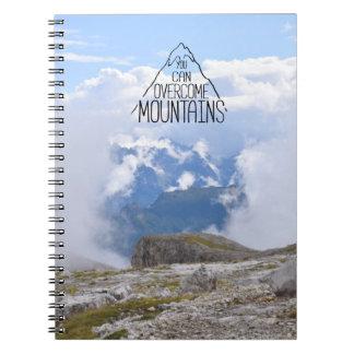 Você pode escalar o caderno espiral das montanhas