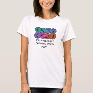 Você pode nunca ter demasiada confecção de malhas camiseta