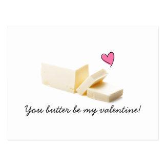 você pôr manteiga seja meu cartão dos namorados