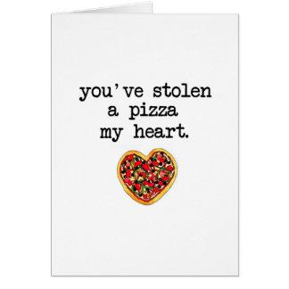 Você roubou meu coração cartão comemorativo