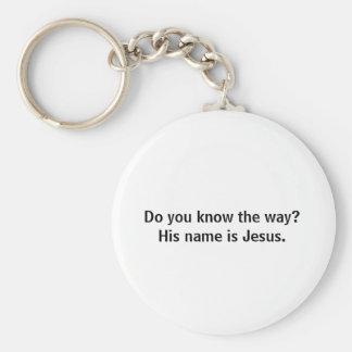 Você sabe a maneira? Seu nome é Jesus. Chaveiros