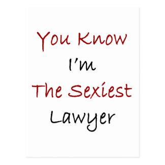 """Você sabe que eu sou o advogado o mais """"sexy"""" cartão postal"""