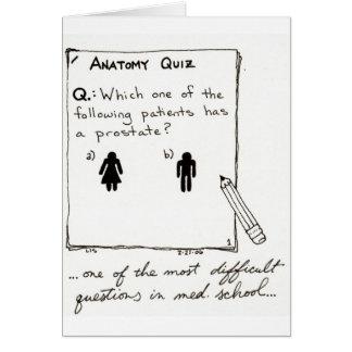 Você sabe quem tem uma próstata? cartão