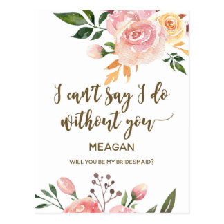 Você será meu boho do cartão da dama de honra