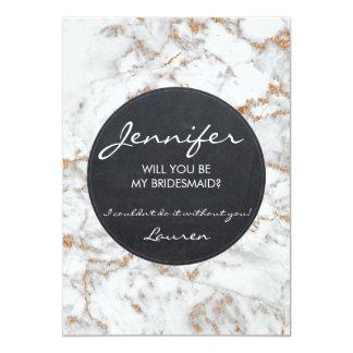 Você será meu brilho do mármore do falso do cartão convite 12.7 x 17.78cm